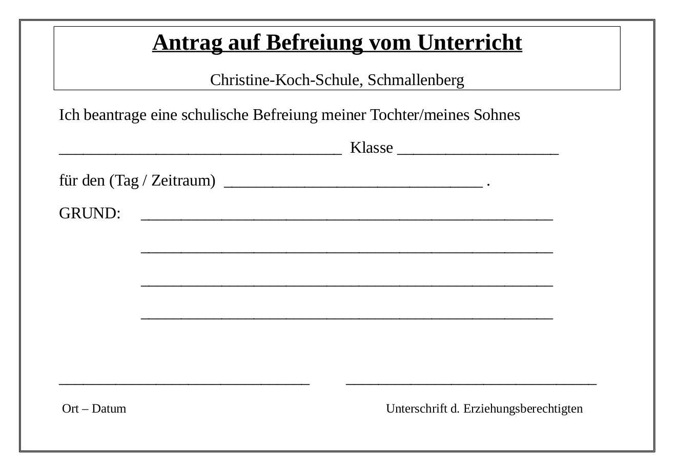 Tolle Beurlaubungsvorlage Bilder - Entry Level Resume Vorlagen ...